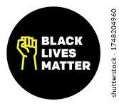 black lives matter blm protest... | Shutterstock .eps vector #1748204960
