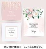 elegant wedding cards with pink ...   Shutterstock .eps vector #1748235980