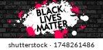 black lives matter. vector... | Shutterstock .eps vector #1748261486