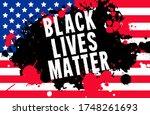 black lives matter. vector... | Shutterstock .eps vector #1748261693