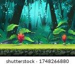 vector horizontal seamless... | Shutterstock .eps vector #1748266880