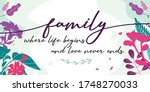 family and home quotes family... | Shutterstock .eps vector #1748270033