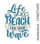 hand drawn lettering... | Shutterstock .eps vector #1748271659