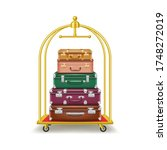 realistic 3d detailed luggage... | Shutterstock .eps vector #1748272019
