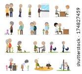older people in different... | Shutterstock .eps vector #174827459