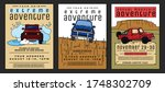 motorsport event posters set.... | Shutterstock .eps vector #1748302709