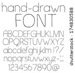 handwritten font. vector... | Shutterstock .eps vector #174830588