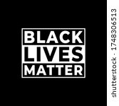 Black Lives Matter Modern Logo...
