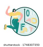 one meal a day   fast....   Shutterstock .eps vector #1748307350