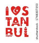istanbul. poster design for the ...   Shutterstock .eps vector #1748307353