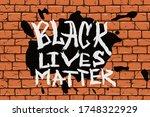 black lives matter poster to... | Shutterstock .eps vector #1748322929