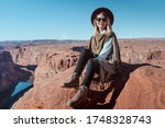 A Travel Girl Hiking In...