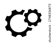 gear settings icon eps 10  gear ... | Shutterstock .eps vector #1748336873