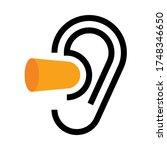 ear and earplugs. noise symbol... | Shutterstock .eps vector #1748346650