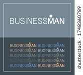 business man logo and typography   Shutterstock .eps vector #1748360789