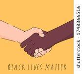 black lives matter poster  card ... | Shutterstock .eps vector #1748366516