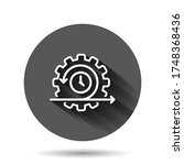agile icon in flat style....   Shutterstock .eps vector #1748368436