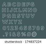hand drawn alphabet letters... | Shutterstock .eps vector #174837224