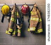 Firefighter Helmet And...