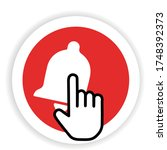 subscribe   button red color... | Shutterstock .eps vector #1748392373