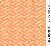 orange isometric sayagata... | Shutterstock .eps vector #1748409989