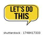 let's do this speech bubble on...   Shutterstock .eps vector #1748417333