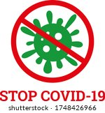 stop covid 19 coronavirus... | Shutterstock .eps vector #1748426966