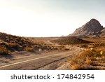pretty empty mojave desert... | Shutterstock . vector #174842954