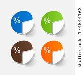 paper sticker  business pie...   Shutterstock .eps vector #174844163