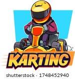 karting illustration isolated... | Shutterstock .eps vector #1748452940