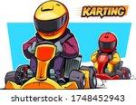 karting illustration isolated... | Shutterstock .eps vector #1748452943