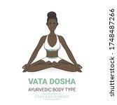 vata dosha  or ectomorph ... | Shutterstock .eps vector #1748487266