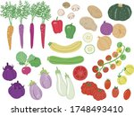 illustration of various kinds... | Shutterstock .eps vector #1748493410