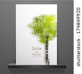 eco theme flyer template or... | Shutterstock .eps vector #174849920