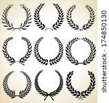 laurel wreath  set | Shutterstock .eps vector #174850130