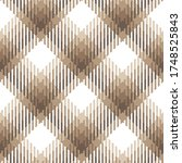 check plaid pattern in brown...   Shutterstock .eps vector #1748525843
