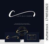 simple elegant initial...   Shutterstock .eps vector #1748533823