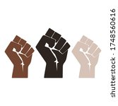 strong hands with racial colors ...   Shutterstock .eps vector #1748560616