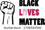 black lives matter. raised hand ...   Shutterstock .eps vector #1748565500
