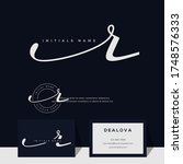 simple elegant initial...   Shutterstock .eps vector #1748576333