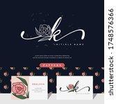 handwriting letter k logo...   Shutterstock .eps vector #1748576366