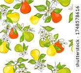 fresh green  yellow  orange... | Shutterstock .eps vector #1748578616