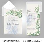 elegant watercolor wedding... | Shutterstock .eps vector #1748582669