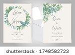 elegant wedding invitation card ...   Shutterstock .eps vector #1748582723