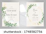 elegant wedding invitation card ...   Shutterstock .eps vector #1748582756