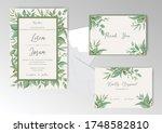 elegant wedding invitation card ...   Shutterstock .eps vector #1748582810
