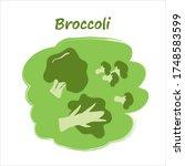 sliced vegetables with titles ... | Shutterstock .eps vector #1748583599