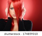Beautiful Red Haired Woman...