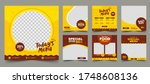 set of editable square banner... | Shutterstock .eps vector #1748608136