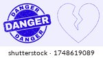 geometric broken heart mosaic...   Shutterstock .eps vector #1748619089